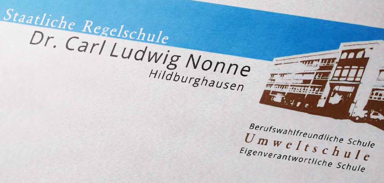 Briefkopf-Nonne-Schule