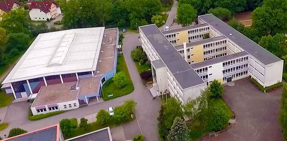 Nonne-Schule-Luftaufnahme